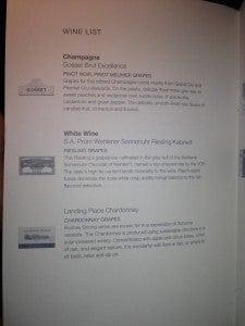 White wine list