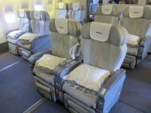 My Business class seat on Alitalias 777 when  I flew it last