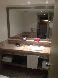 Bathroom counter space