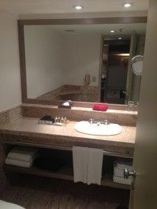 Bathroom counter space