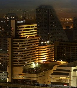 Exterior of the JW Marriott Bangkok.