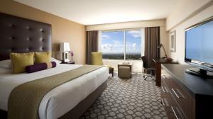 King guest room at the Hyatt Regency Orange County.