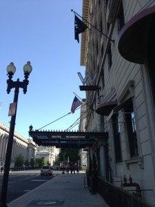 The exterior of the W Washington DC.