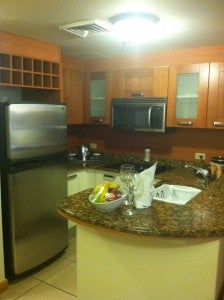 Small kitchen in our two bedroom villa.