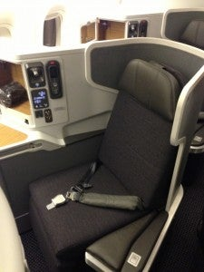 First Class seat - lack of privacy