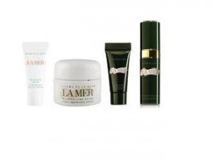 La Mer skin care comes in small sizes perfect for travel.