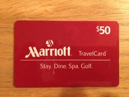 Marriott gift cards can be purchased at Staples