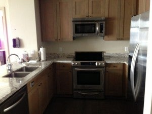 Our suite featured a fully equipped kitchen.