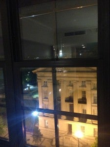 View of the Washington DC Treasury Department from my room.
