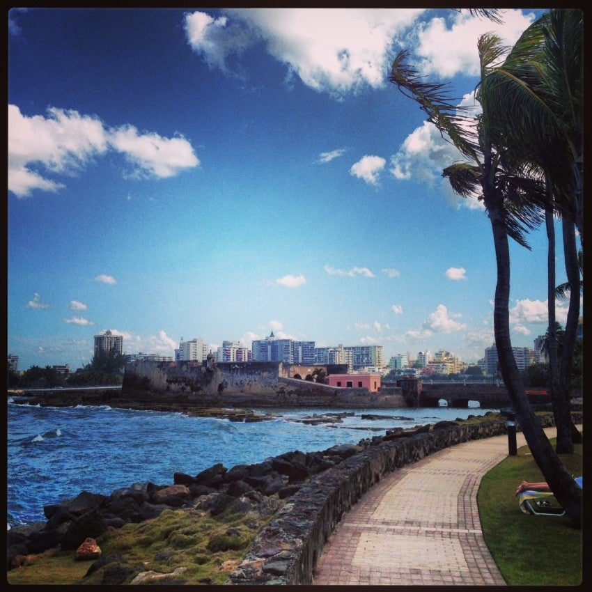 View of Condado from right outside the resort.