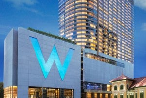The W Bangkok has 407 guest rooms and suites.