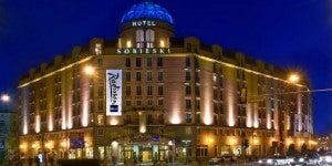 The Radisson Blu Sobieski Hotel.