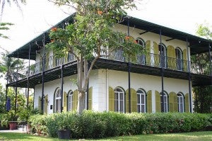 The Ernest Hemingway House.