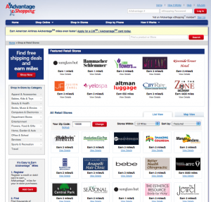 Some online shopping portals like American's offer in-store bonuses too.