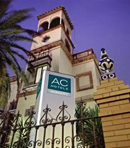 Exterior of the AC Hotel Ciudad de Sevilla.