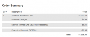The card purchase fees are waived.