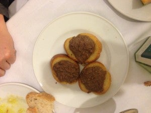 The chicken liver toast was my favorite thing that I had to eat in Florence.