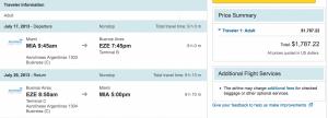Cheap airfare on Aerolineas for summer travel