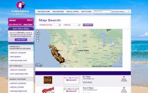 Hawaiian's portal has a handy map search function.