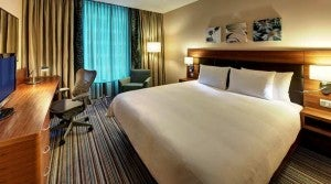 King guest room at the Hilton Garden Inn Seville.