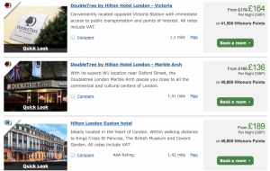 Hilton London Options