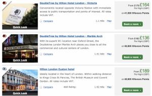 Hilton London Options