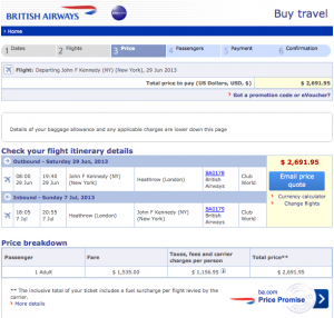 Fares are as low as $2,692.