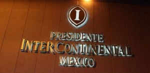 The palatial Motor Lobby at the Presidente InterContinental Mexico City.