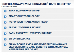 BA Visa Benefits
