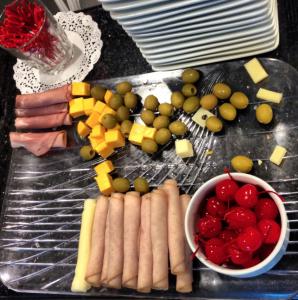 Snack tray.