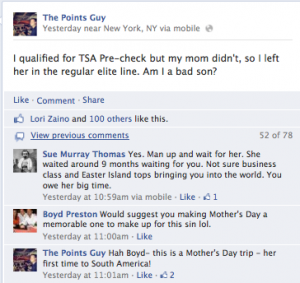 The comments came flooding in on Facebook.