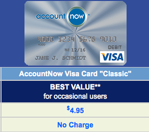 the accountnow silver is a good option because it doesn - Accountnow Gold Visa Prepaid Card