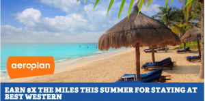 Earn 2,000 Aeroplan miles per Best Western stay this summer.