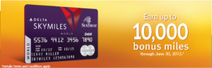 While the sign-up bonus is low, the SunTrust Delta debit card offers a lot of earning potential.