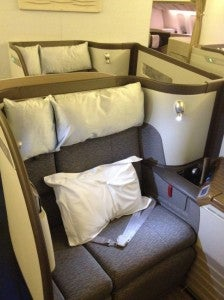 Cathay Pacific First Class.
