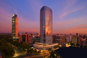 Sunset at The St. Regis Mexico City in the heart of downtown.