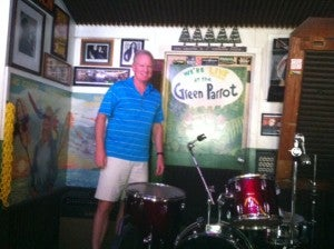 TPG's Dad enjoying the Green Parrot.