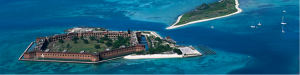Consider taking a trip to the Dry Tortugas National Park, just 70 miles west of Key West.