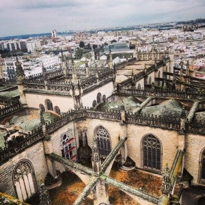 View of Seville from the Giralda Tower.