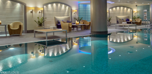 Indoor pool at the Hyatt Regency Warsaw.