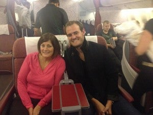 My mom and I on our way to Santiago.