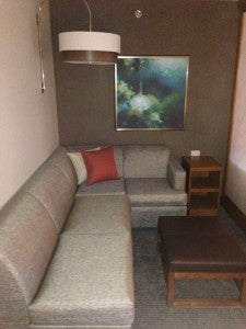 The sleeper sofa was a great addition to the room.