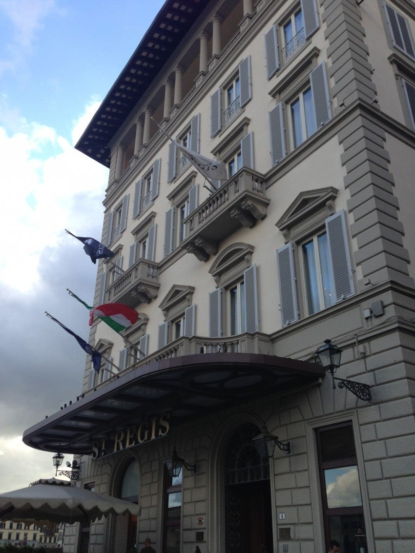 The exterior of the St. Regis Florence.