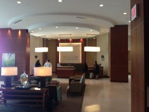 The lobby of the Westin Tampa Bay.