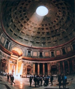 I can't wait to walk beneath the Pantheon's famous dome.