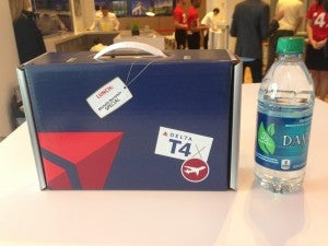 Delta suitcase style lunch boxes.