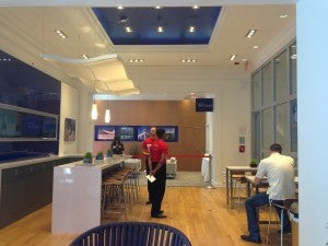 The 2nd floor features a mock Delta Sky Club.