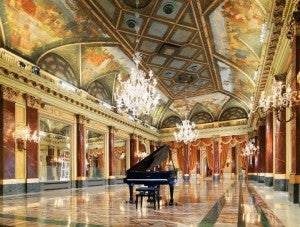 The grand ballroom at the St. Regis Rome.