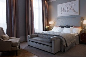 Superior guest room at the Grand Hotel Stockholm.