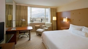 Deluxe king room at the Westin Warsaw.